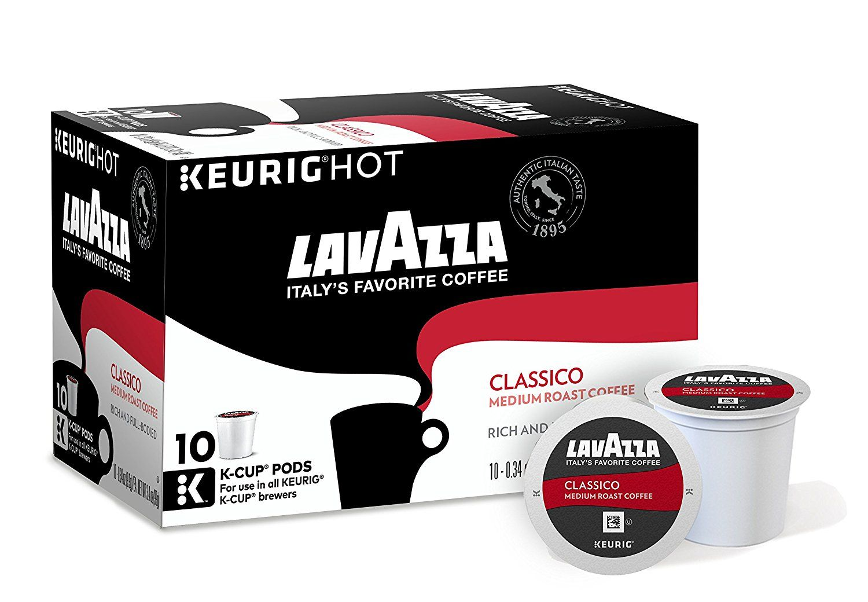 Lavazza Classico Medium Roast Coffee, Keurig KCups, 60
