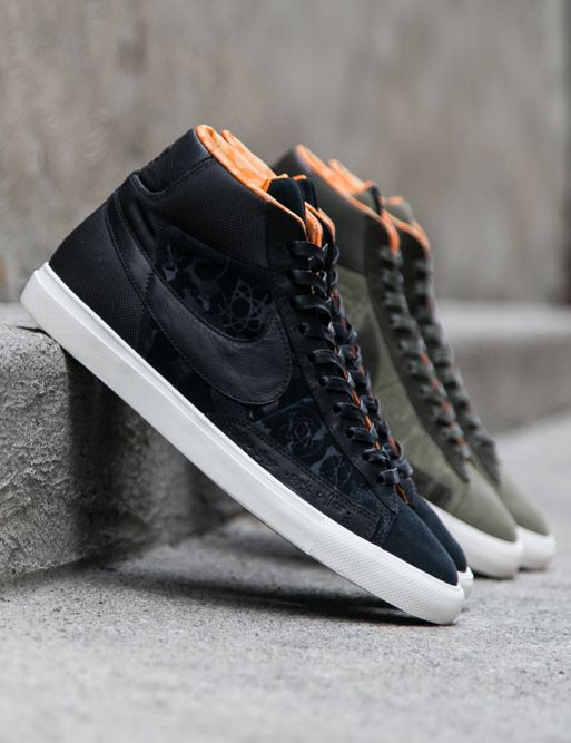 nike x mo'wax blazer hi in black