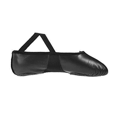 Starlite Flexi Black Split Sole Sole Leather Ballet Shoes 5.5L pfyNwvt4It