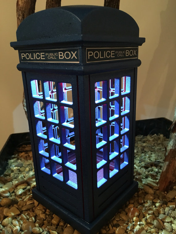 Dr Who Tardis Inspired Lamp, Tardis Lamp, Dr Who Lamp, Accent Lamp,
