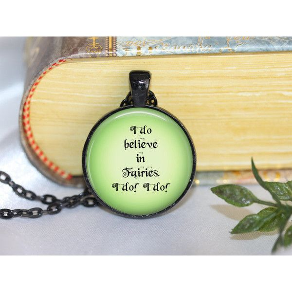 Peter Pan Quote Necklace Peter Pan Pendant Necklace or Peter Pan... ($11) ❤ liked on Polyvore featuring jewelry, pendants, peter pan jewelry and pendants & necklaces