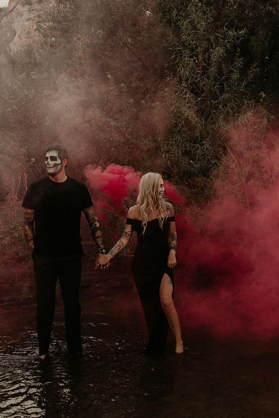 Halloween Styled Shoot Phoenix AZ Smoke Bombs & Spooky