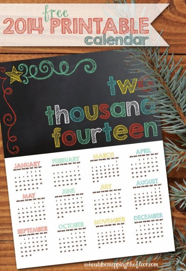 Top 10 Crafts to Make This Week {1-5} Printable calendars, DIY