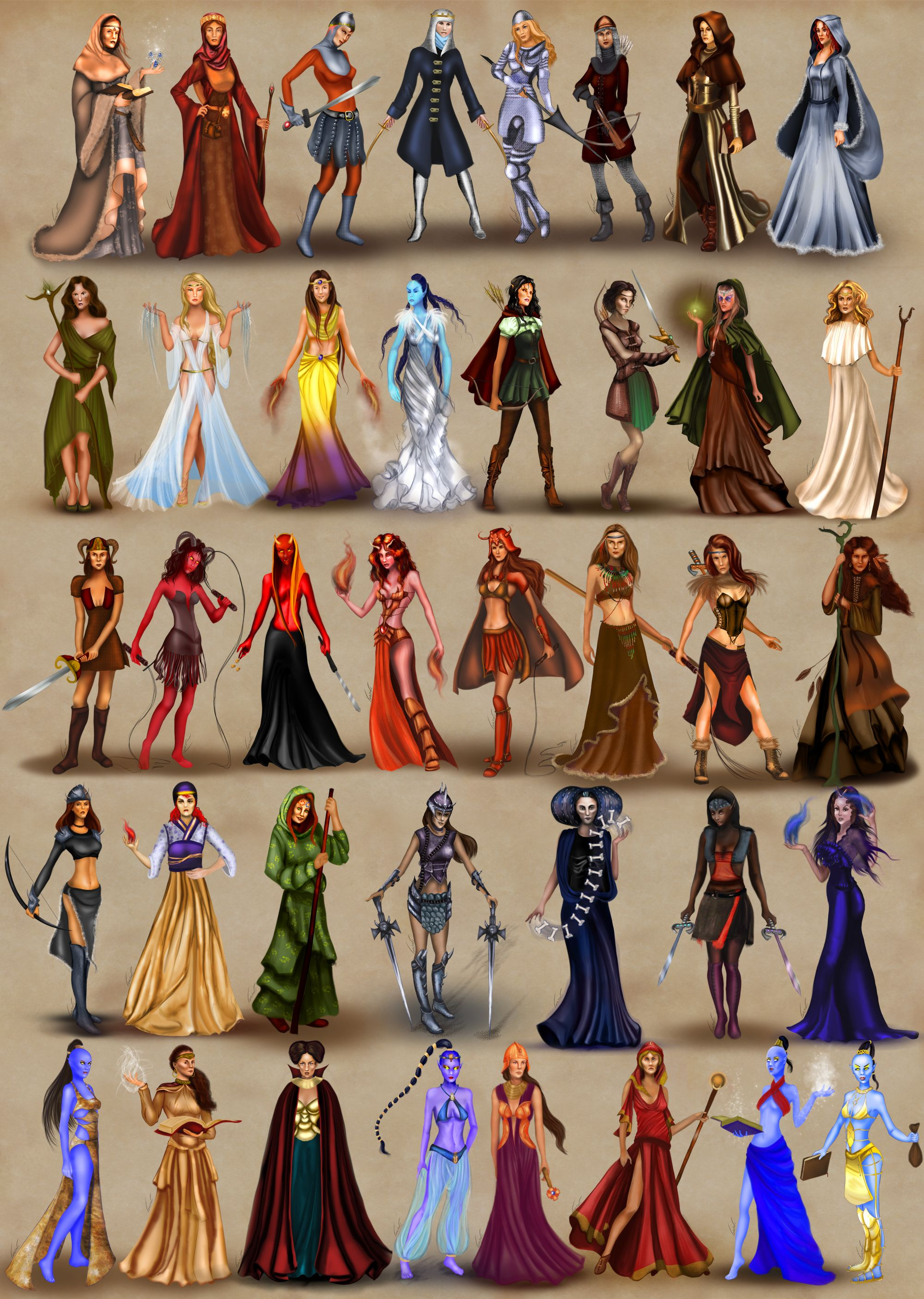 female heroes of heroes of might and magic by on