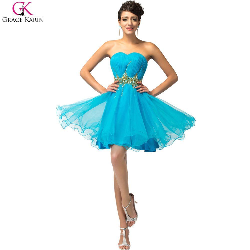 Click to Buy ucuc Vestidos Corto De Gala Vestido De Baile Grace Karin