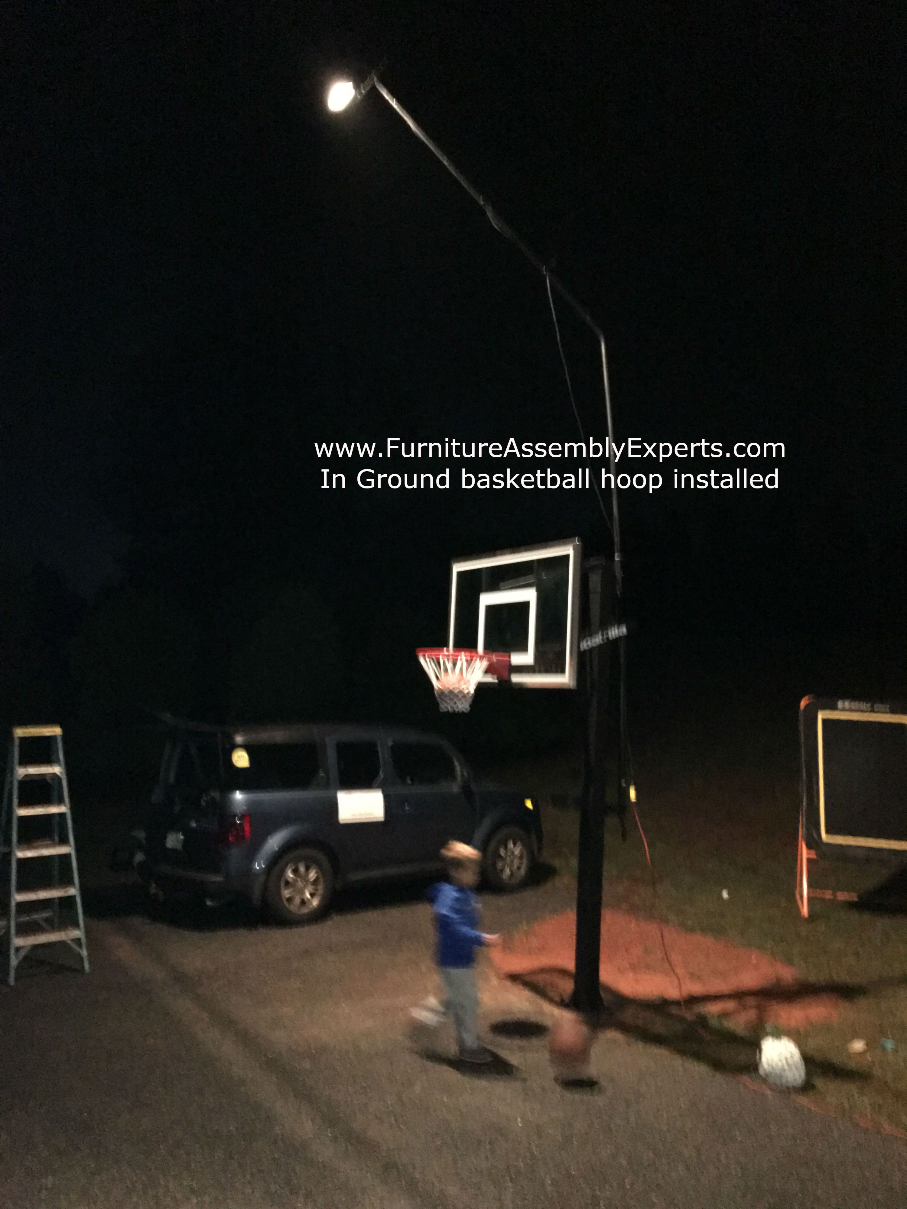 In Ground Portable Basketball Hoop Installation Completed In Chantilly Virginia We Portable Basketball Hoop Lifetime Basketball Hoop Basketball Court Flooring