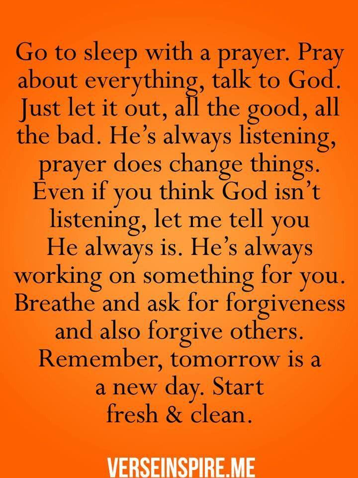 *9351* Go to sleep with a prayer.... J Evening prayer