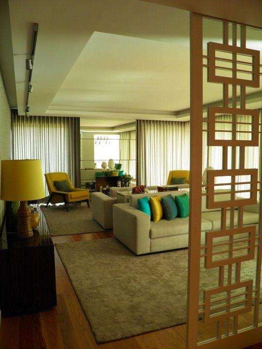 parque das na es apartment living room by insight interiores. Black Bedroom Furniture Sets. Home Design Ideas