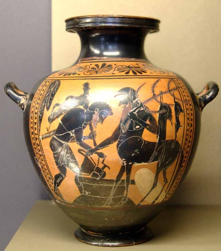 Herakles Pholos Louvre Mne940 Ancient Greek Art Ancient Greek Pottery Ancient Vase