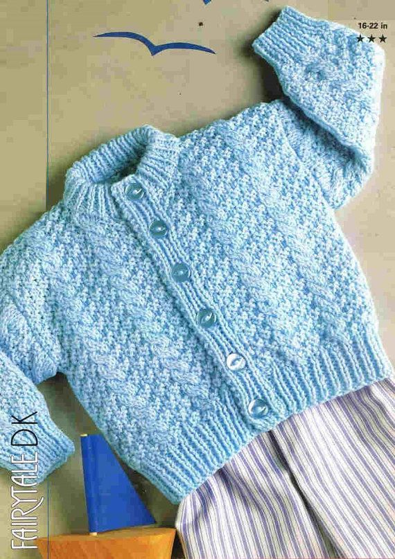 baby jumper vintage knitting pattern PDF instant download | Tejidos ...