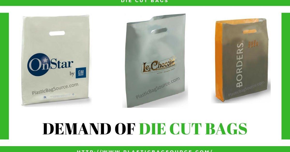 Pin On Die Cut Plastic Shopping Bags