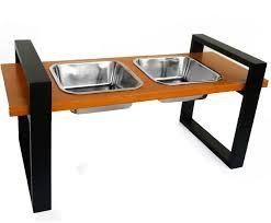 Resultado de imagem para support dog feeders in wood