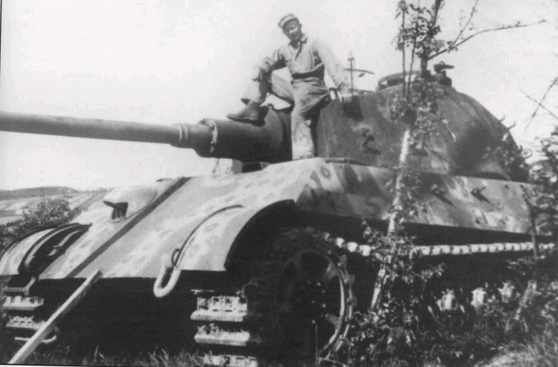 PanzerKampfWagen VII, The King Tiger Tank, showing some battle scars