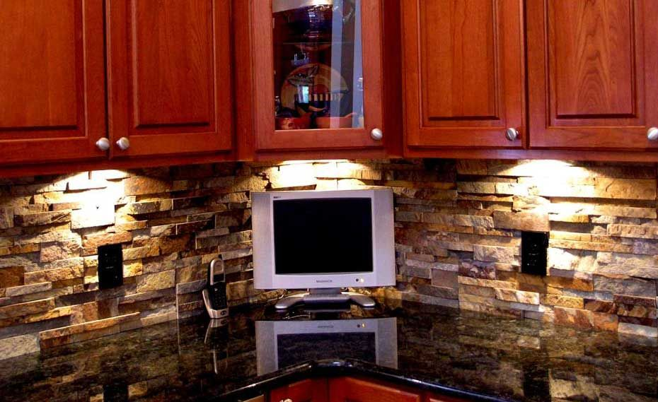 Norstone Stacked Stone Veneer Ochre Blend Rock Panels used As a