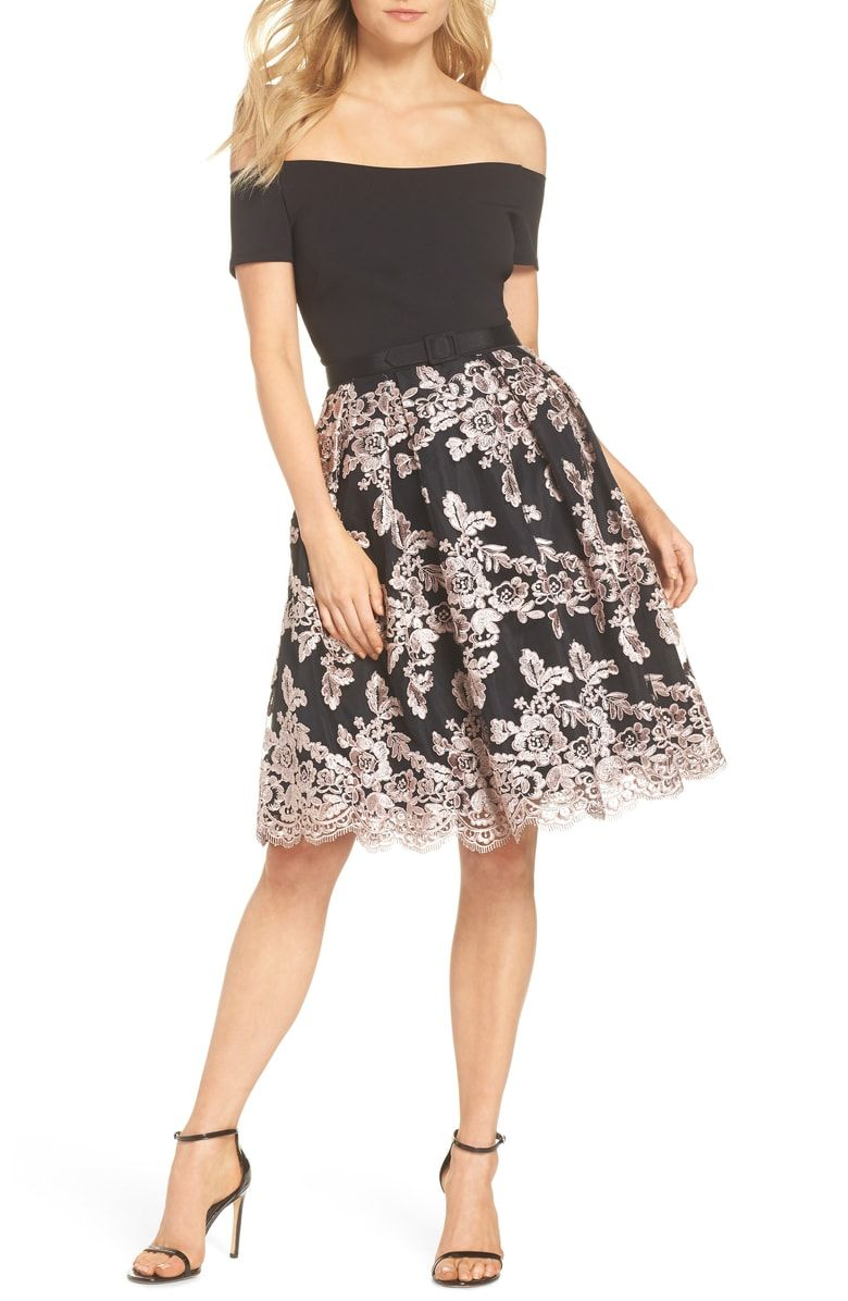 d602a1a82170a Free shipping and returns on Eliza J Off the Shoulder Party Dress at  Nordstrom.com. A festive