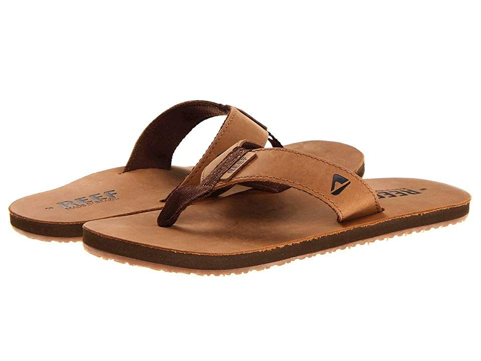 d103914b75aa Reef Reef Leather Smoothy Men s Sandals Bronze Brown