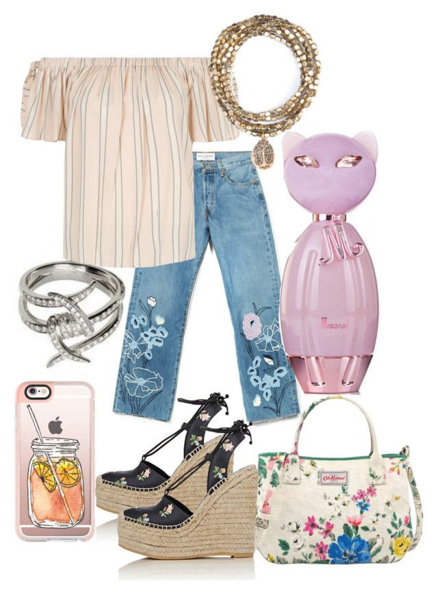 """""""Brigette"""" by pampire ❤ liked on Polyvore featuring Casetify, Yves Saint Laurent, Bliss and Mischief, New Look and Cath Kidston"""