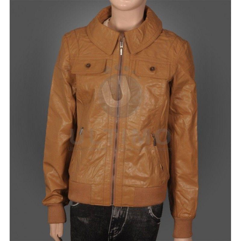 86ac18778 Camel Color Biker Leather Jacket For Men s | womens leather jacket ...
