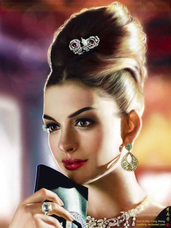 Anne Hathaway Elegance by *MayFong