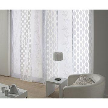 panneau japonais ondulation blanc 260 x 50 cm maison home sweet home pinterest. Black Bedroom Furniture Sets. Home Design Ideas