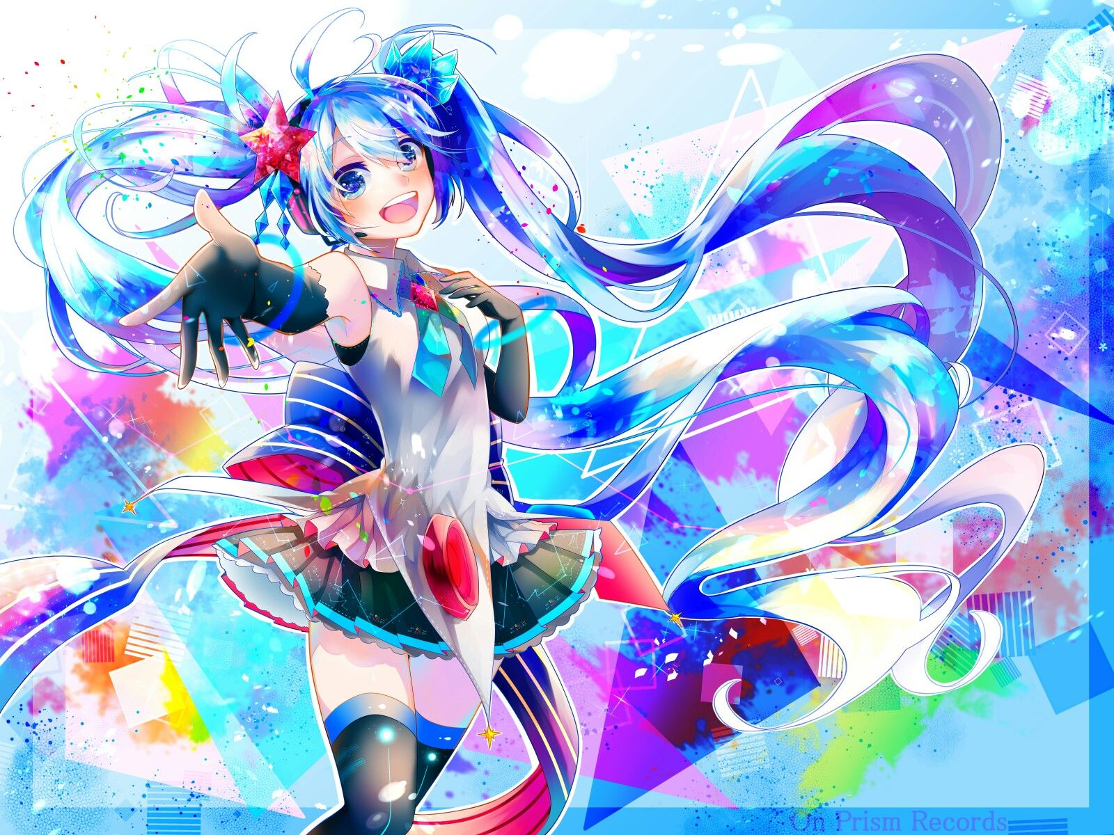 Miku colorful art Art by 白雪とわ in Pixiv