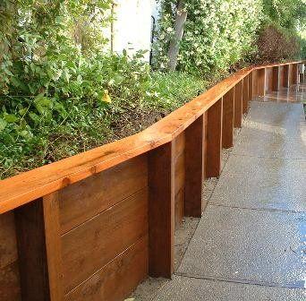 Wood Retaining Wall Ideas Jpg Landscaping Pinterest