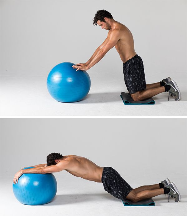 Stability Ball Knee Crunches: Best Ab Exercises That Aren't Crunches