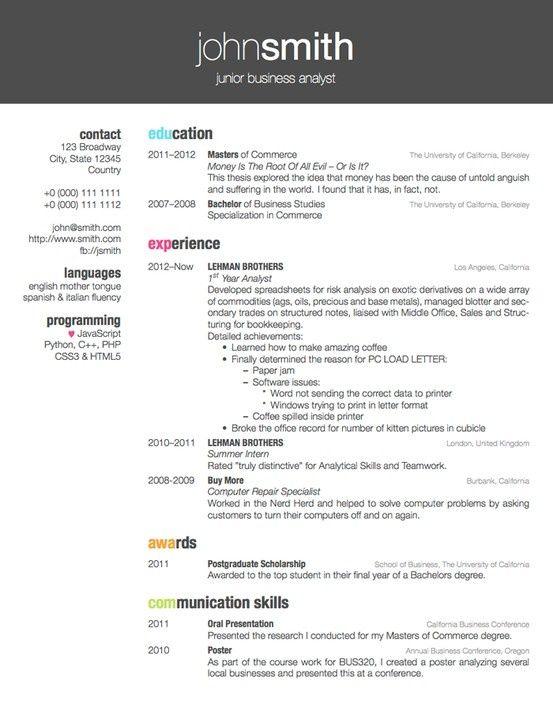 resume in latex tutorial