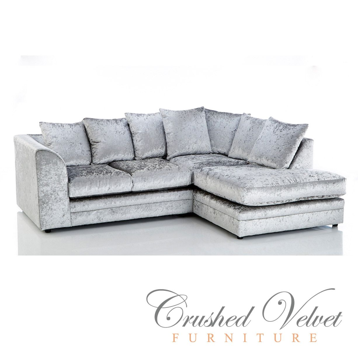 Grey Velvet Chair Crushed Sofa Silver Furniture Sofas Beds Chairs Cushions