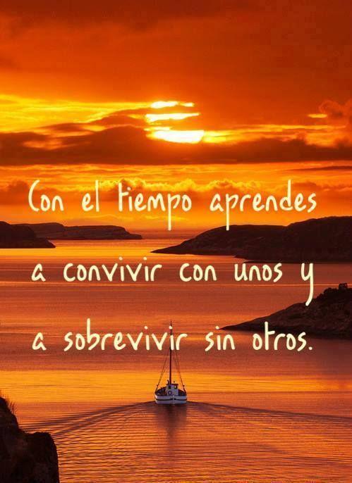 Con El Tiempo Aprendes A Convivir Con Unos Y A Sobrevivir Sin Otros ...