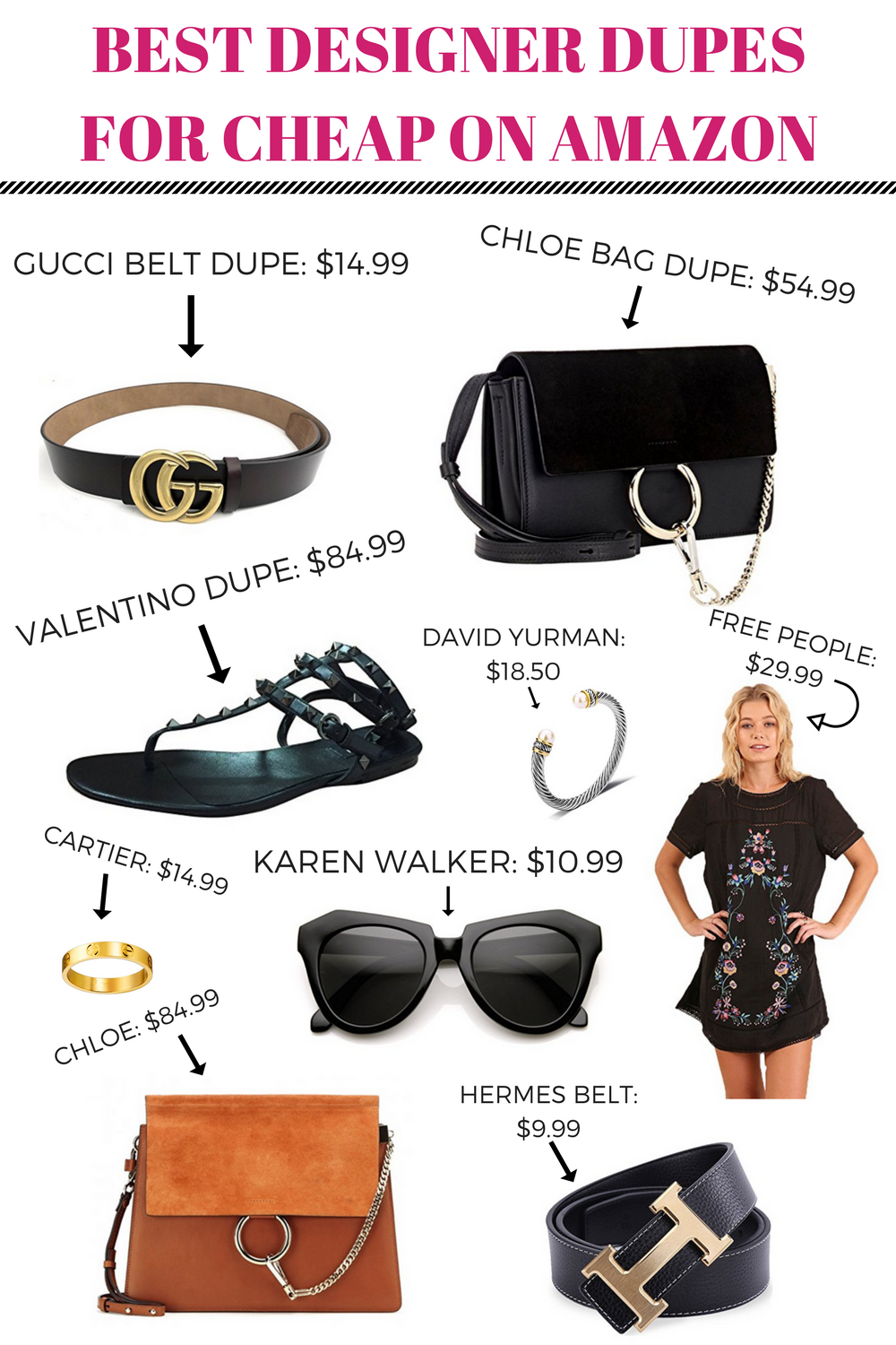 d48f15d7e1 This post has the best roundup of designer dupes for woman available on  Amazon. Everything from Gucci belt dupe to Cartier ring dupe!