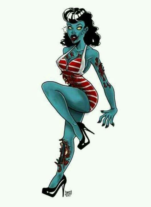 Zombie pin up   Halloween   Pinterest   Tattoo, Pinup art ...