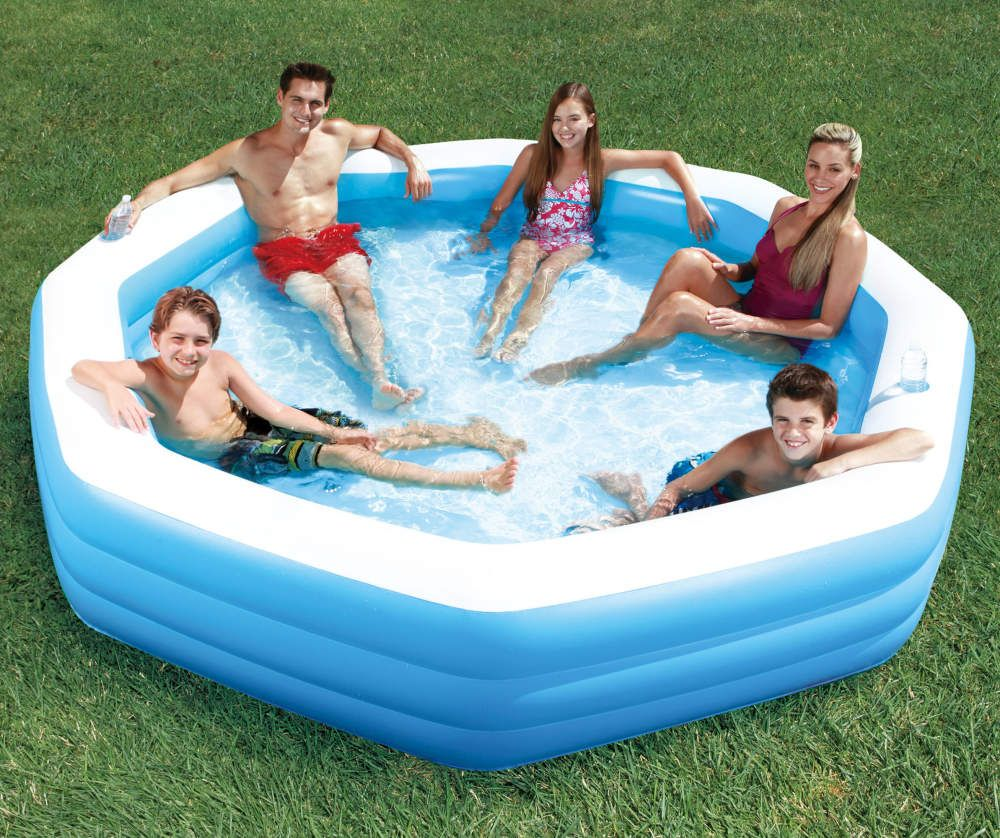 Summer Waves 10 Octagonal Inflatable Family Pool Big Lots Family Inflatable Pool Inflatable Pool Family Pool