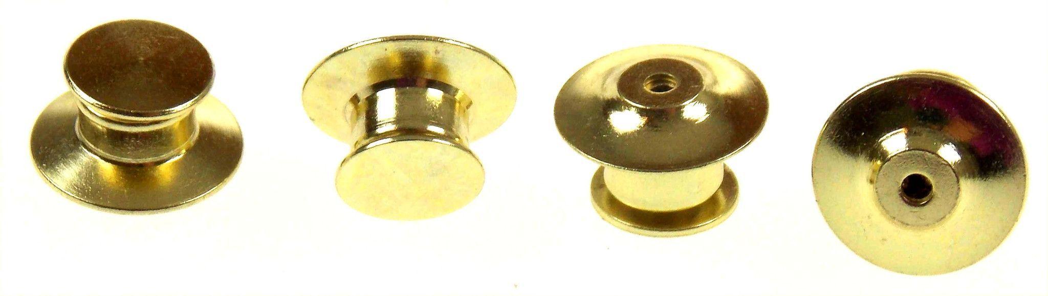 Gold Pin Keeper 6 Dozen 72 Spring Flat Head Brass Lapel Vest