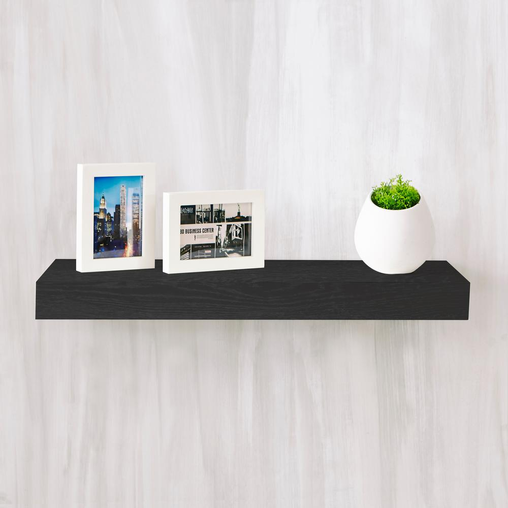 Way Basics Ravello 24 In X 2 In Zboard Paperboard Wall Shelf Decorative Floating Shelf In Black Fs 10 24 1 Bk Floating Wall Shelves Floating Shelves Wall Shelf Decor