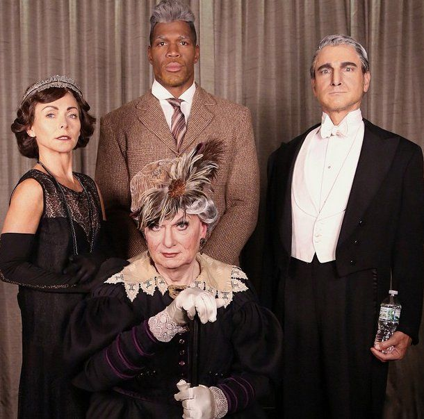 Downton Abbey Halloween Costume | The Gang As The Downton Abbey Group Downton Abbey Characters