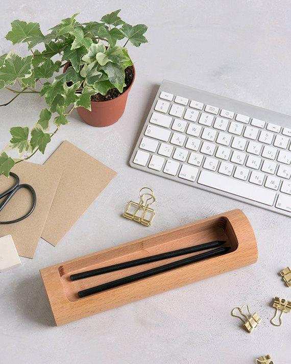 Erstaunlich Schreibtisch Pen Halter   Moderne Schreibtischzubehör   Holz Schreibtisch  Veranstalter   Geschenk Für Mann   Stifthalter