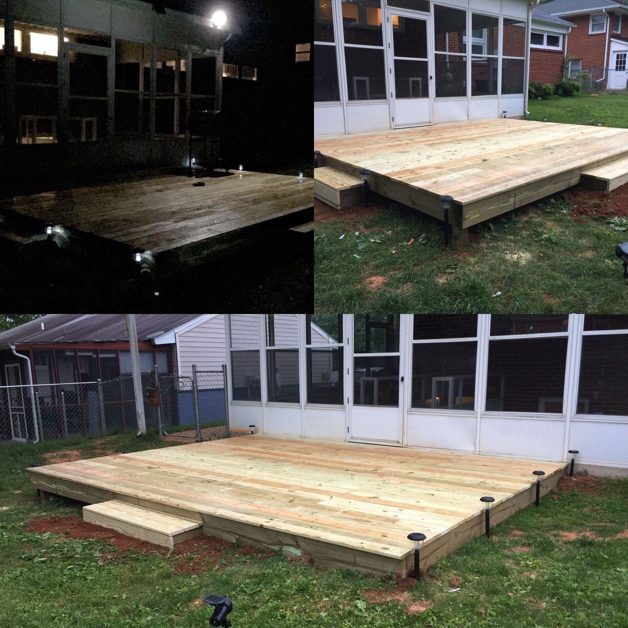 Platform Deck: 15ft Long By 12ft Wide. This Deck Was Fairly Easy To Build