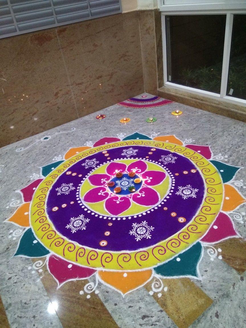 Pin by kalyani on flowers in 2020 Rangoli designs