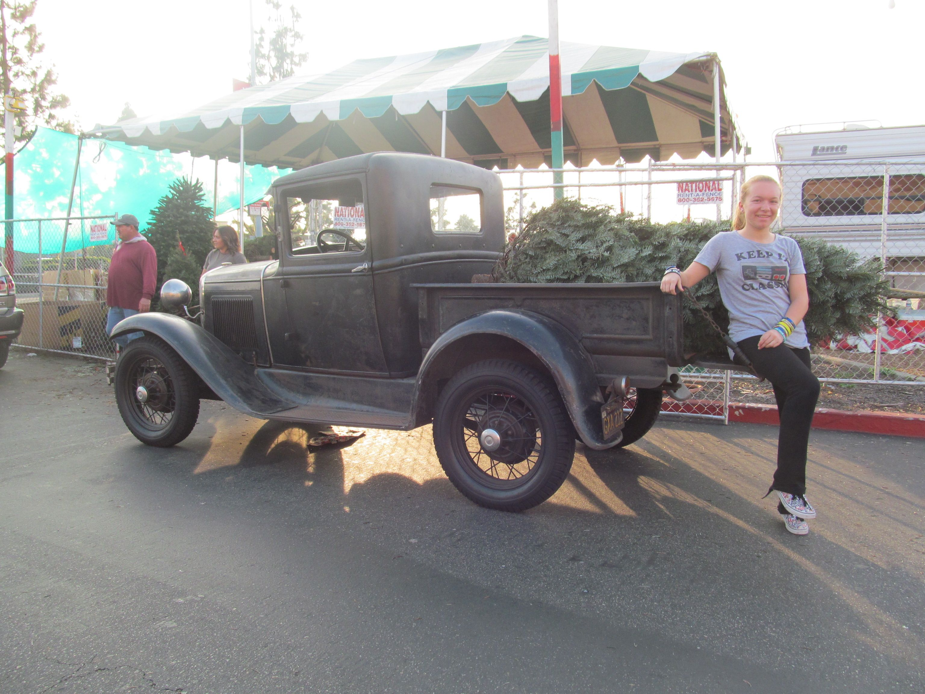 1931 Ford Model A pickup truck Picking up the Christmas tree 2016