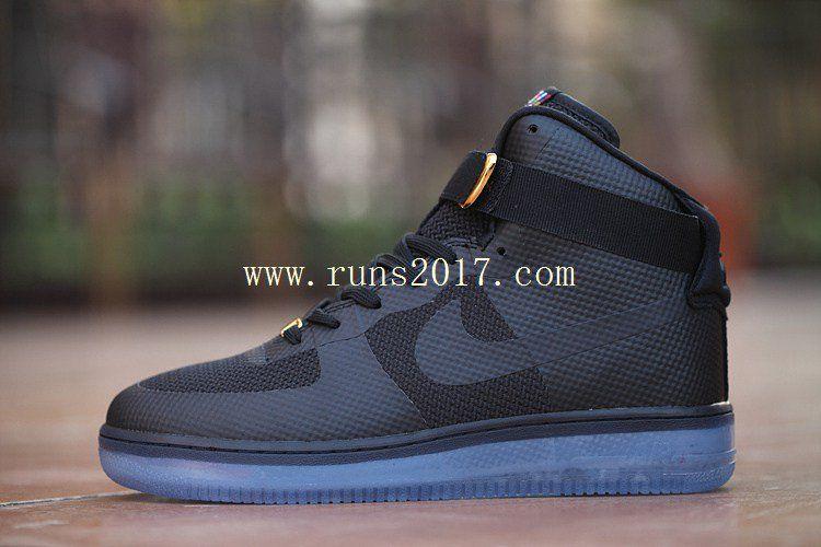 Nike Air Force 1 High Women Men Black Crystal Sole  0cc60f0b1d