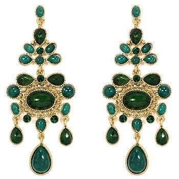 Talullah Tu - Emerald Stone Statement Chandelier Earrings | ~ThE ...