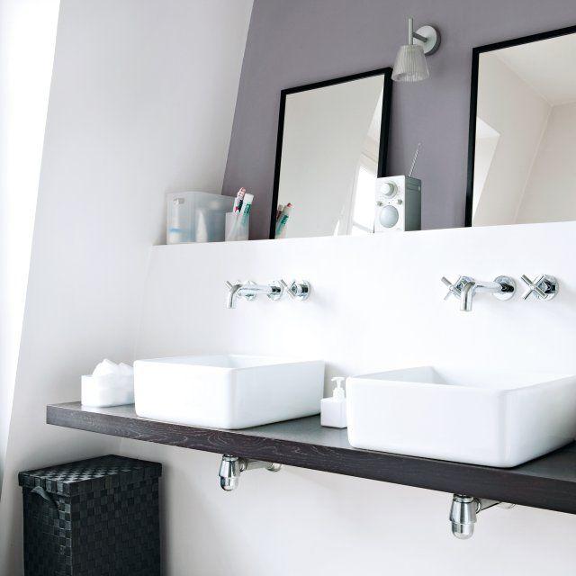 Une salle de bains moderne et épurée   inspirations salle de ...