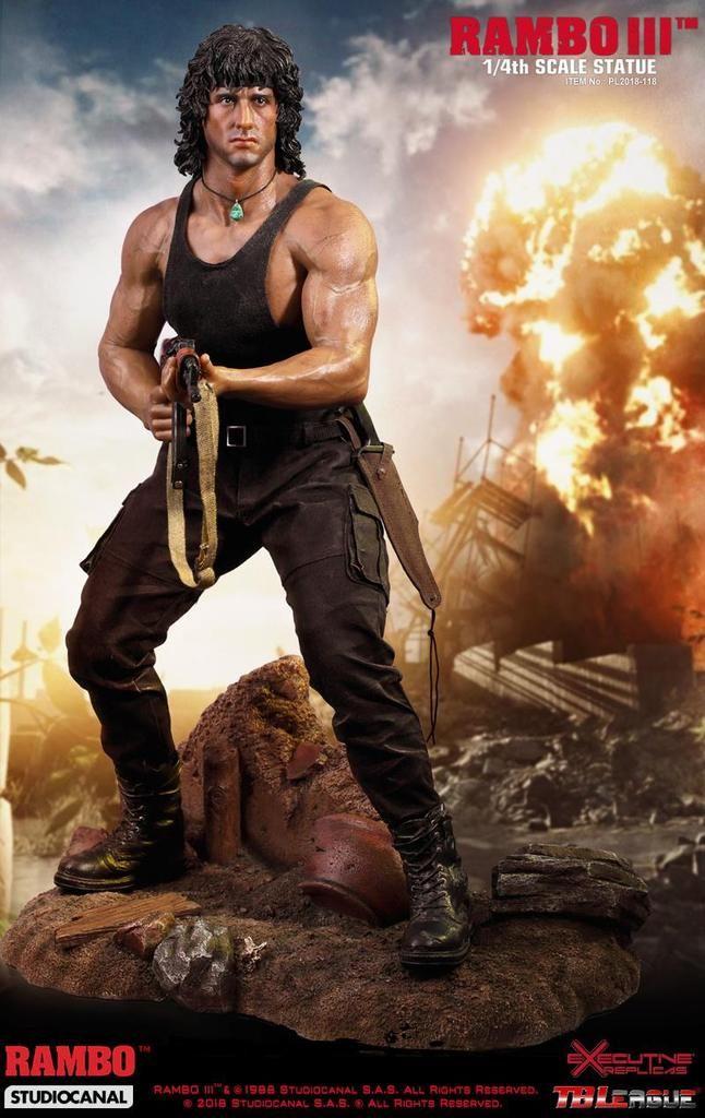 Tbleague Rambo Iii John Rambo Statue 1 4 Scale Sylvester Stallone Sylvester Stallone Rambo Free Movies Online
