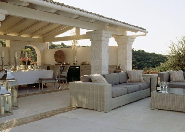 Terrassen berdachung garten gestaltung mediterr n stil for Terrassen einrichtung
