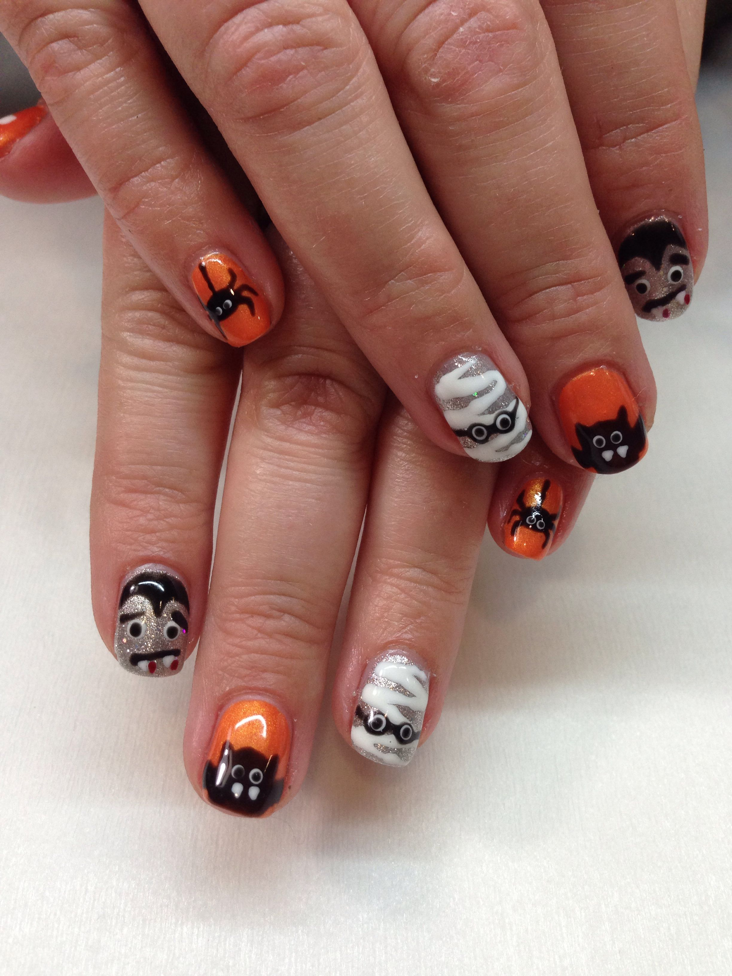 Totally fun Halloween nails by Lisa Terry/Get Nailed! | Get Nailed ...