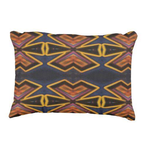 Cool Masculine Tribal Pattern Decorative Pillow