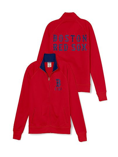 Boston Red Sox Track Jacket PINK