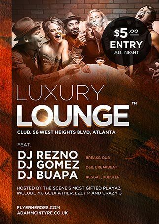 Get Luxury Lounge Flyer Template Photoshop From HttpWww