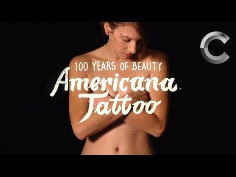 "Model lets tattoo artist ink her 11 times for a very intense ""100 Years of Beauty"" video. 
